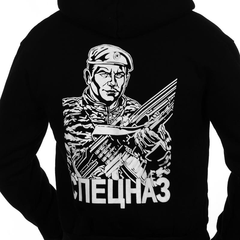 Толстовка «Спецназ ВВ Краповые Береты» чёрная