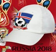 Топовая белая бейсболка фанатам Исландии