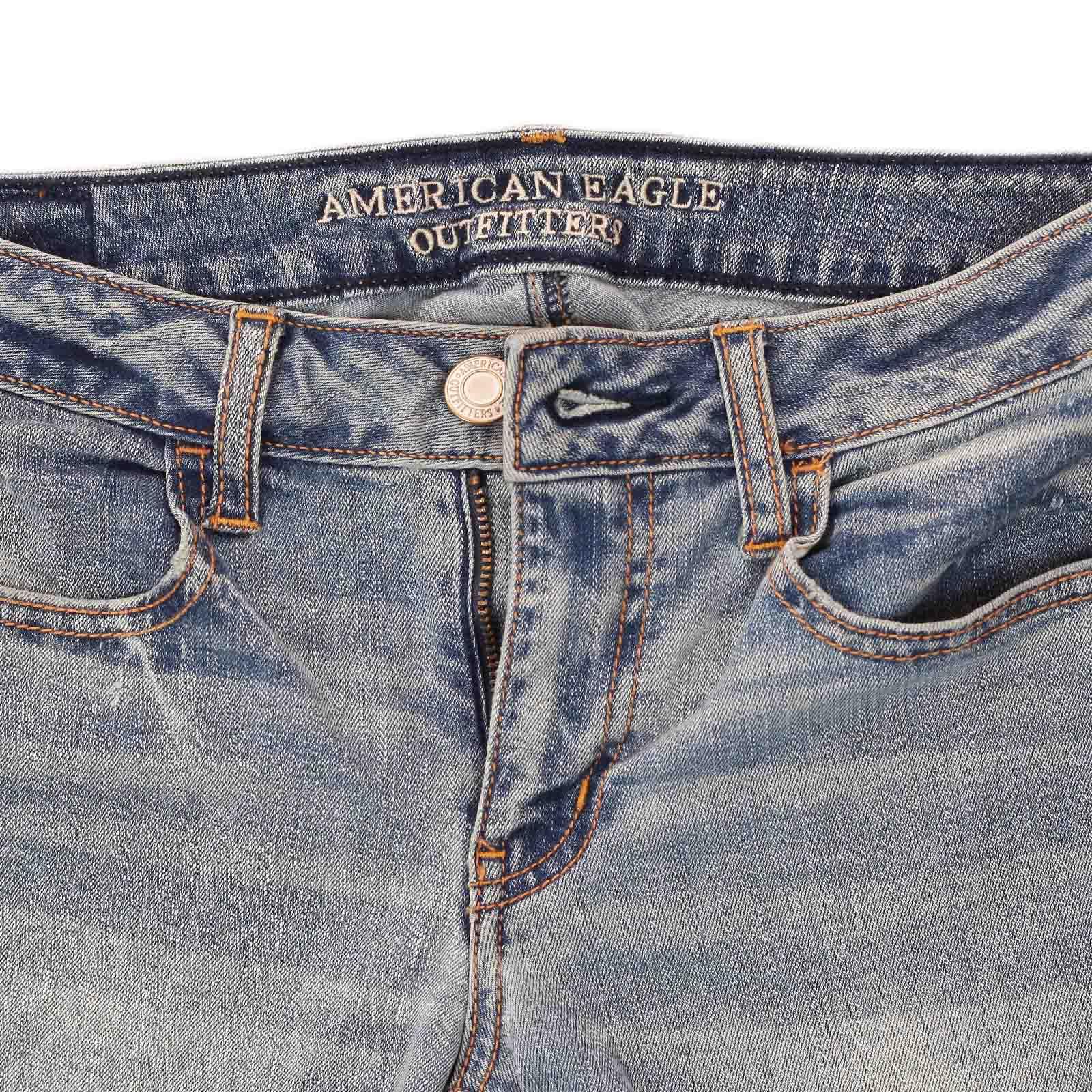 Топовые джинсовые бриджики от American Eagle®, будь неотразимой дерзкой и сексуальной этим летом! по лучшей цене
