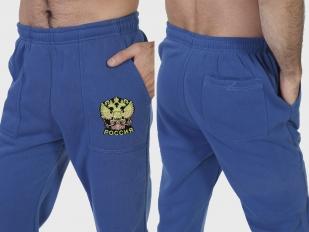 Топовые спортивные штаны с Российским гербом заказать в Военпро