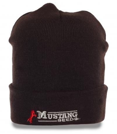 Традиционная с отворотом трикотажная мужская шапка Mustang seeds универсальная популярная вещь