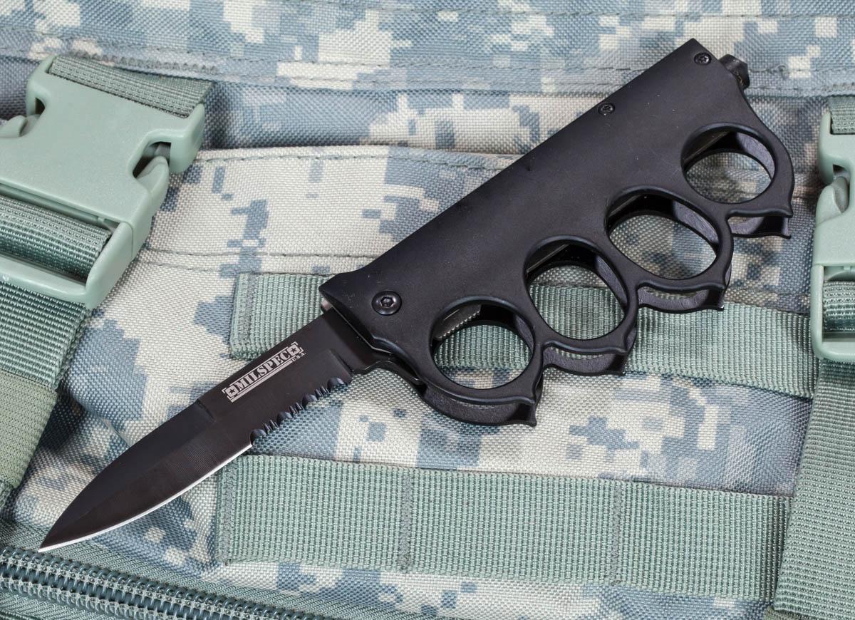 Траншейный нож Milspec USA Half-Serrated