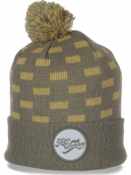 Тусовочная женская шапка с отворотом удобная молодежная высококачественная модель