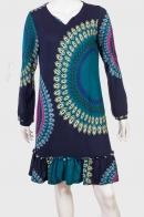 Удлиненное брендовое платье в стиле БОХО