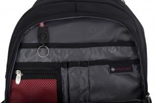 Удобный черный рюкзак с военной нашивкой РВСН - купить выгодно