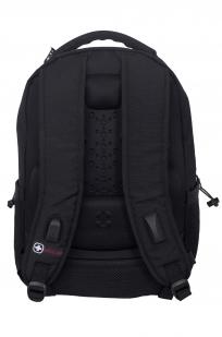 Удобный черный рюкзак с военной нашивкой РВСН - купить с доставкой