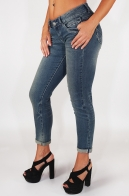 Укороченные дизайнерские джинсы от бренда L.M.V.® (Франция). Почувствуй себя парижанкой!