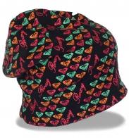 Уникальная трикотажная женская шапка бини Roxy популярная современная молодежная модель