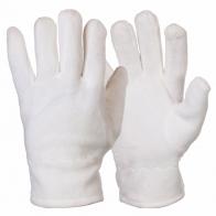Флисовые унисекс перчатки белого цвета.