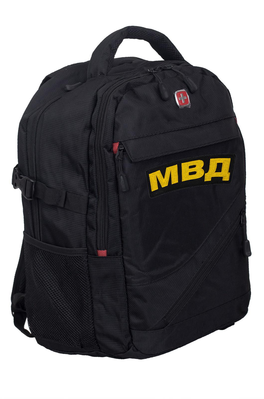Универсальный черный ранец-рюкзак МВД - заказать в розницу
