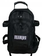 Универсальный черный рюкзак с нашивкой Полиция