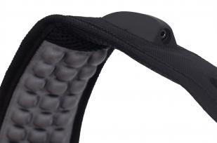 Универсальный черный рюкзак с военной нашивкой РВСН - купить в подарок