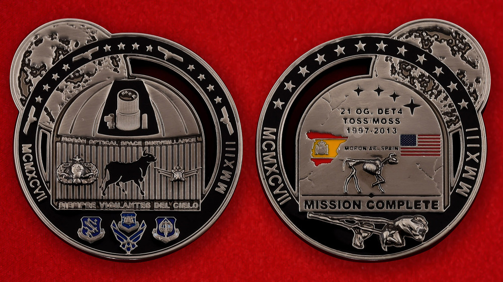 US Air Force Moron Air Base, Spain 1997-2013 Challenge Coin - both sides