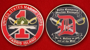 US Marine Corps Parris Island 1st Recruit Training Battalion Challenge Coin