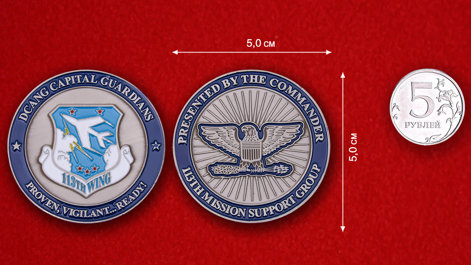 USAF 113th Wing Mission Support Group Challenge Coin
