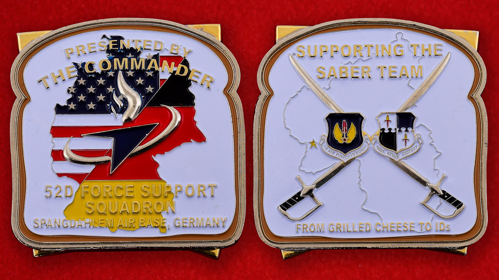 USAF 52nd Force Support Squadron AB Spangdahlem, Germany Challenge Coin - both sides