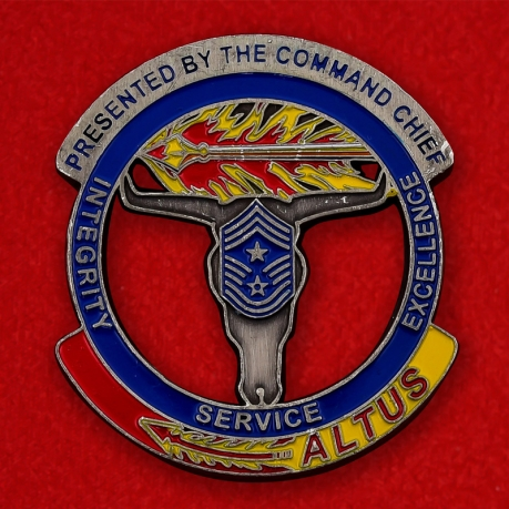 USAF 97th Air Mobility Wing Altus AFB, Oklahoma Challenge Coin - obverse