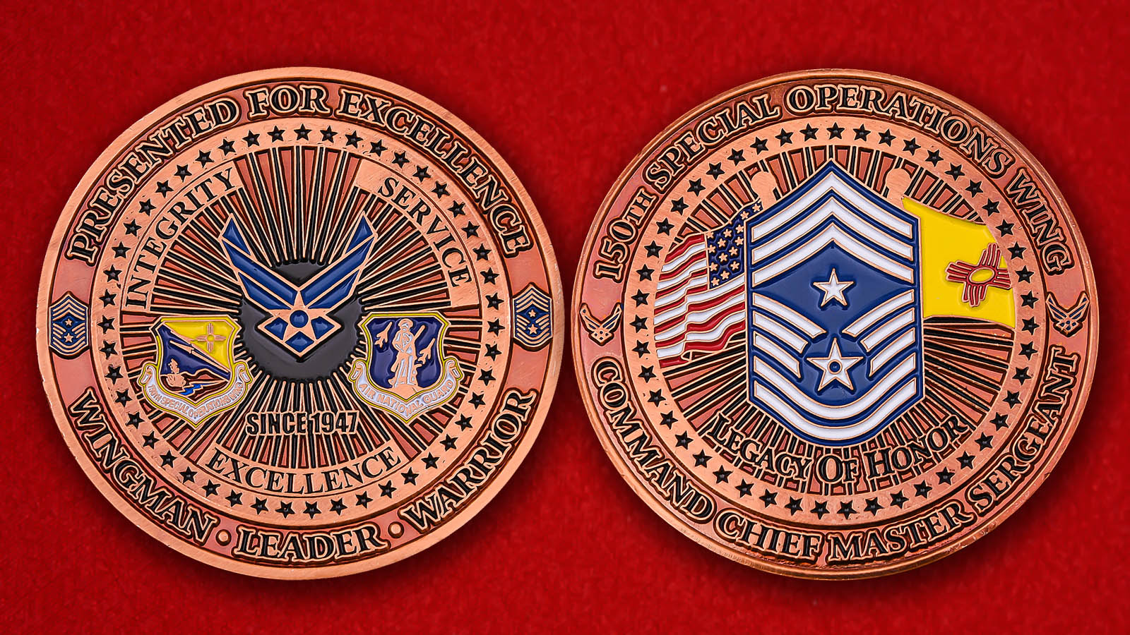 USAF Air National Guard 150th Special Operations Wing Challenge Coin