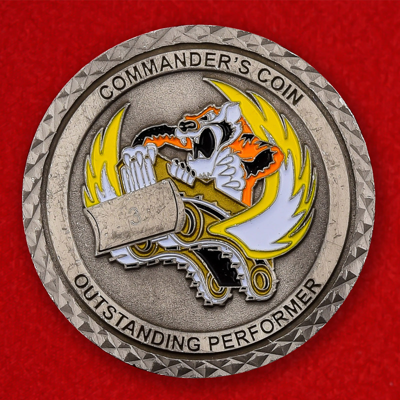 USAF Fire Protection 23rd Civil Engineer Squadron Moode AFB Challenge Coin - obverse