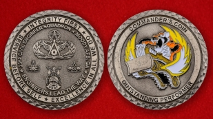 USAF Fire Protection 23rd Civil Engineer Squadron Moode AFB Challenge Coin - both sides