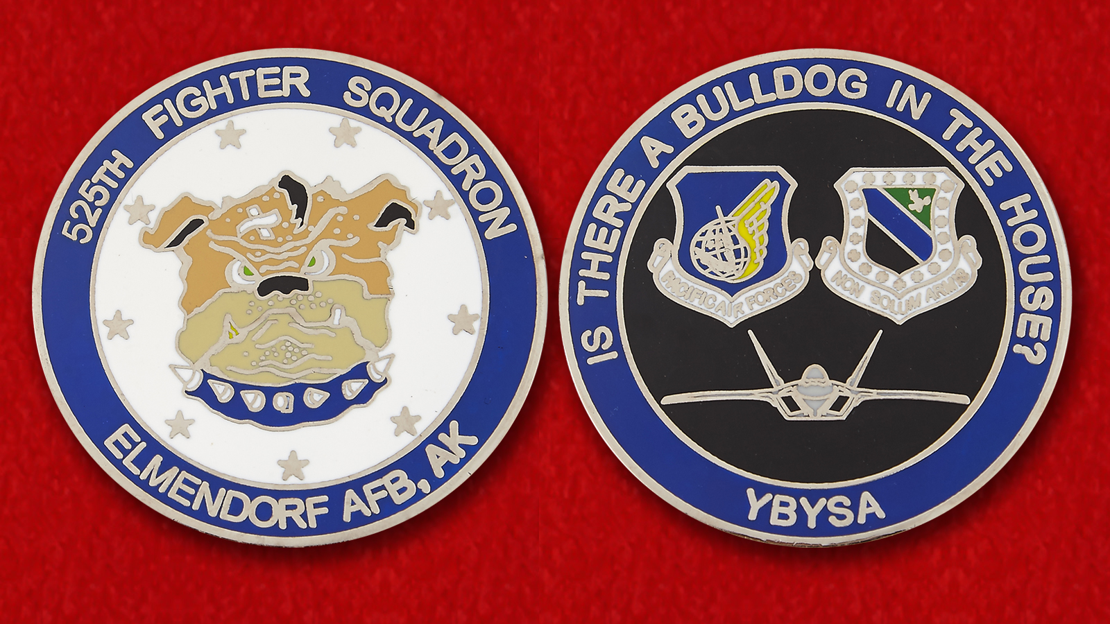 USAF Pacific Air Forces 525th Fighter Squadron Challenge Coin
