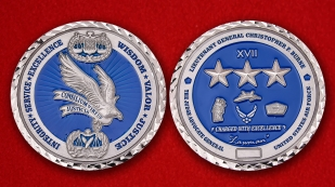 USAF The Judge Advocate General Lt.-Gen. Christopher F. Burne Challenge Coin