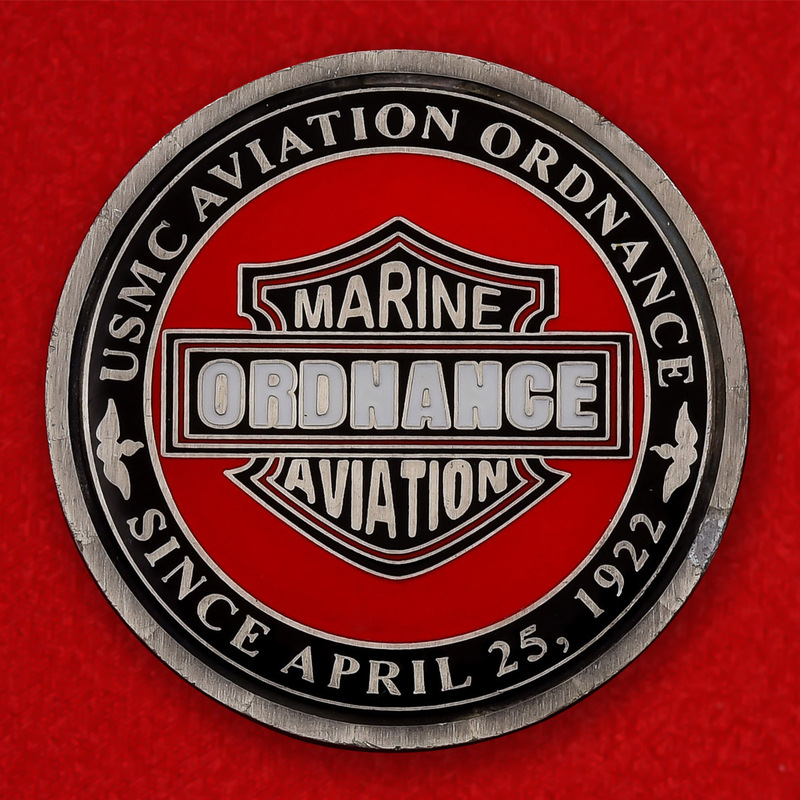 USMC Marine Aviation Ordnance Challenge Coin - obverse