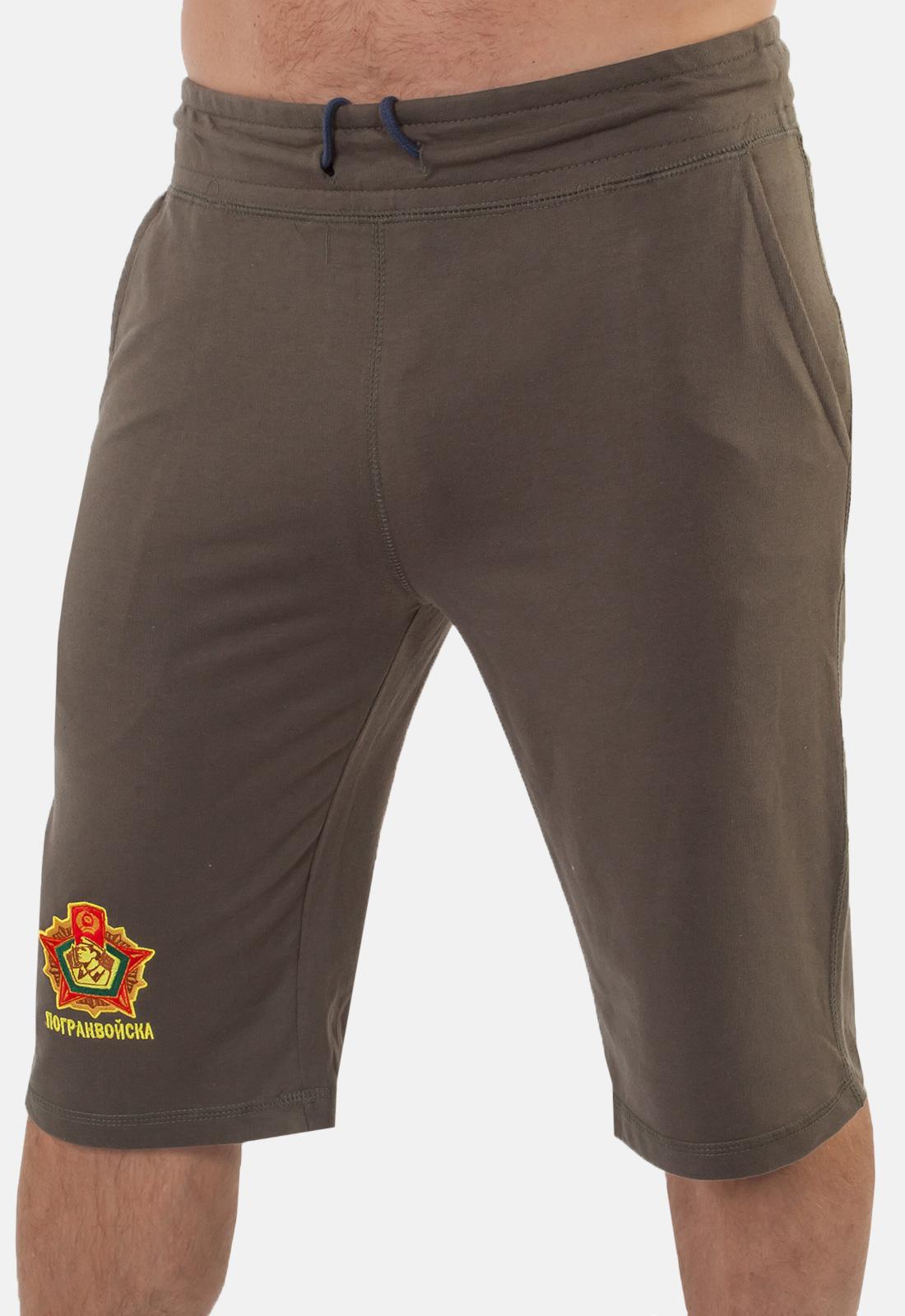 Мужские шорты с вышитой символикой Погранвойск