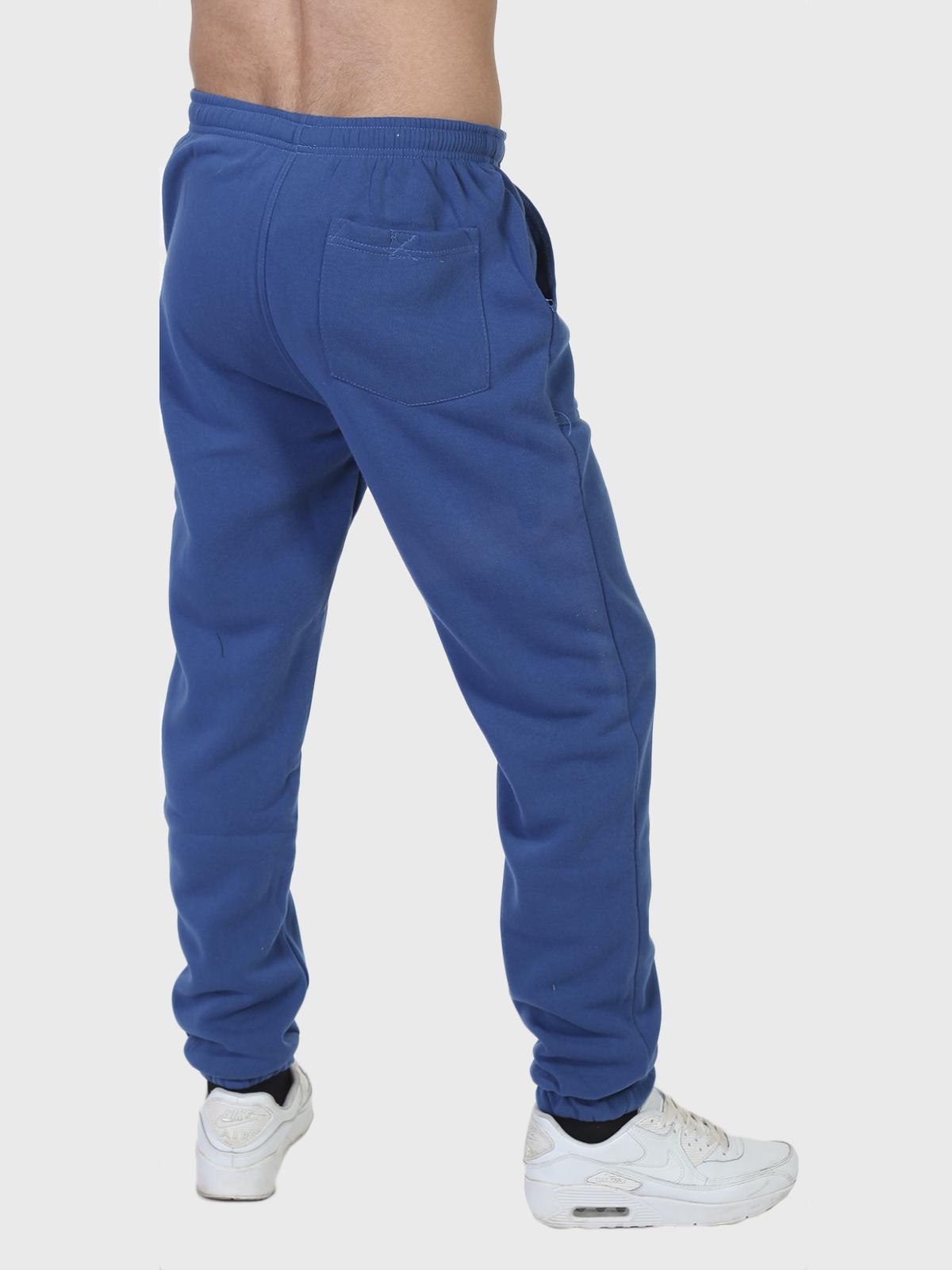 """Утепленные синие спортивные штаны """"Полиция"""" на флисе"""