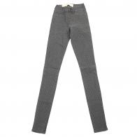 Узкие женские брюки Pieces в горошек.