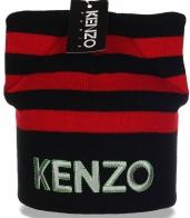 Великолепная женская шапка Kenzo новомодной модели с ушками гламурным цыпочкам