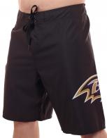 Водоотталкивающие бордшорты NFL Baltimore Ravens для комфортного пляжного отдыха