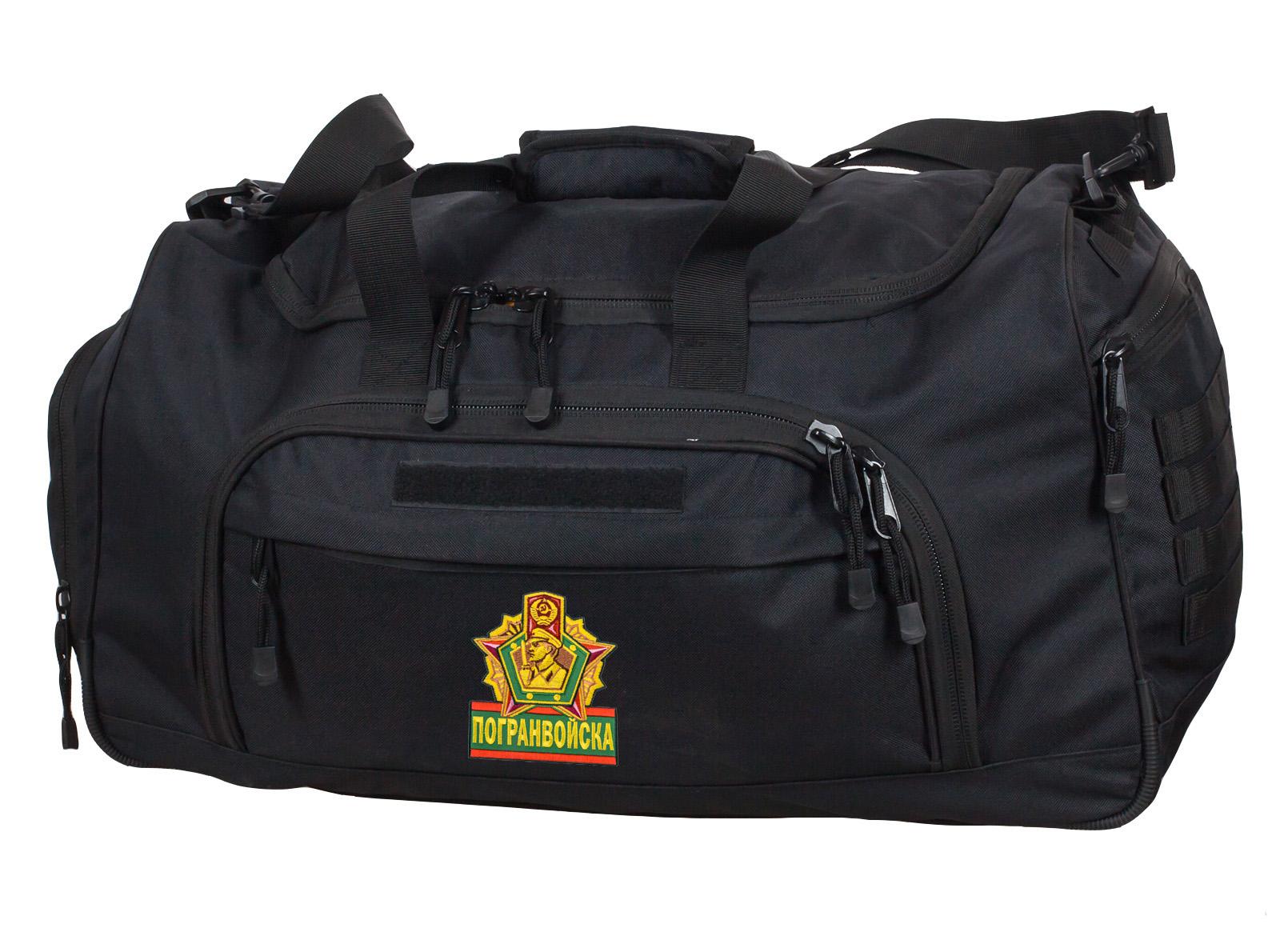 Военная дорожная сумка 08032B Black Погранвойск - купить выгодно