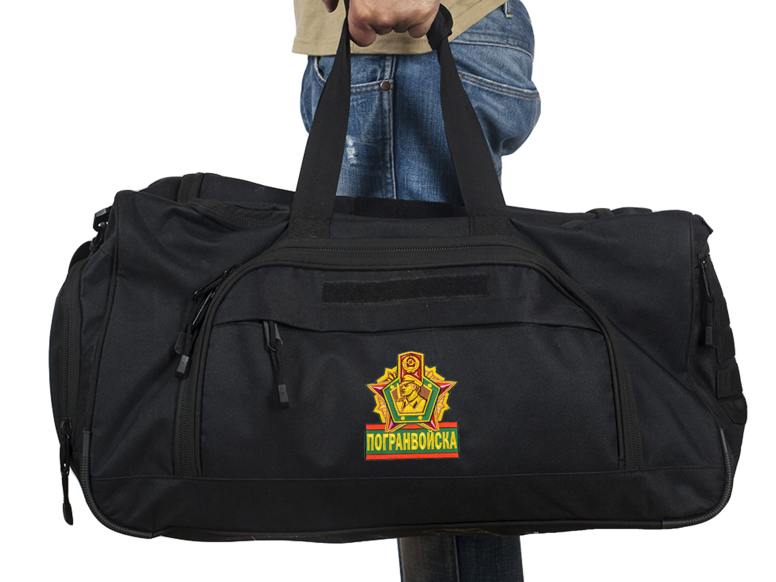 Купить военную дорожную сумку 08032B Black Погранвойск по специальной цене