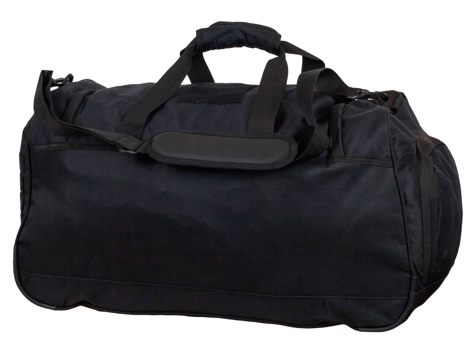 Военная дорожная сумка 08032B Black Погранвойск - купить оптом