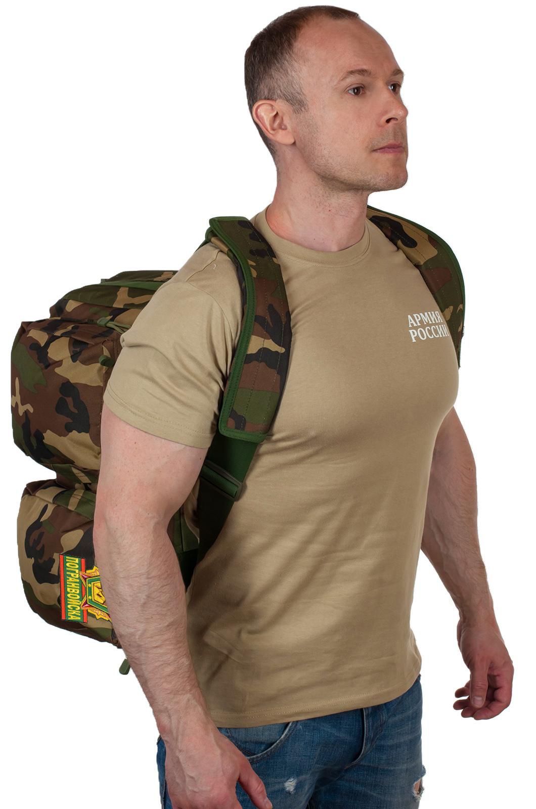 Военная дорожная сумка с нашивкой Погранвойска - купить по низкой цене