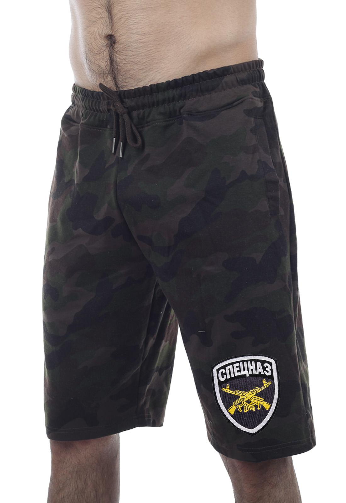 Недорогие мужские шорты Спецназа с поясом-резинкой