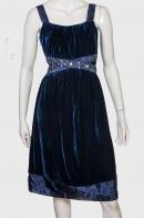 Волшебное приталенное платье из бархата