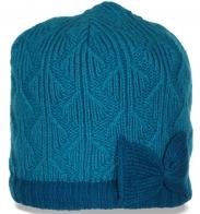 Вязаная зимняя женская шапка утепленная флисом роскошного новомодного дизайна