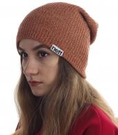 Выразительная женская шапка Neff - красно-желтая пестрая модель самого популярного дизайна. Модницы, налетай!