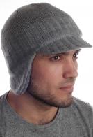 Мужская шапка Barts с ушками и козырьком