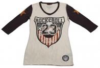 Высококачественная туника Rock&Roll CowGirl с принтом и звездами на рукавах