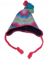 Яркая глубокая шапка для крутых девчонок на флисе и украсит и согреет в любую непогоду по суперской цене