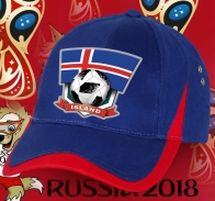 Яркая кепка сборной Исландии.