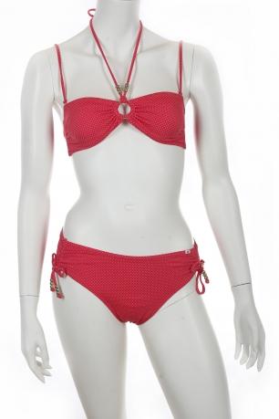 Яркий красный купальник бандо от Olympia.