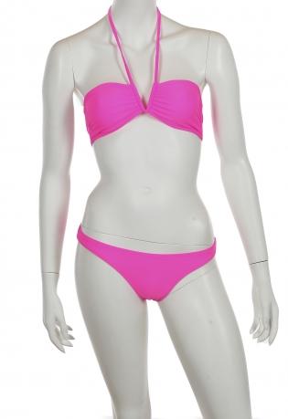 Ярко-розовый купальник бандо от Rip Curl.