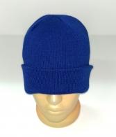 Ярко-синяя лаконичная шапка