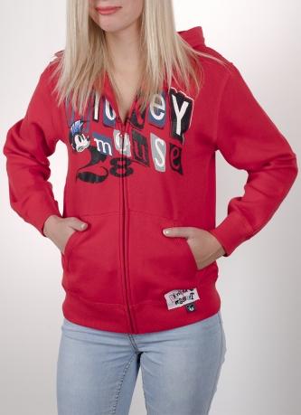 Красное женское кенгуру от бренда Disney®. Няшный принт с Mickey Mouse, глубокий полноценный капюшон, плотный материал. Можно купить прямо сейчас!