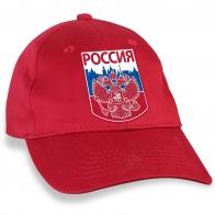 """Зачётная красная бейсболка с трансфером """"Россия"""""""