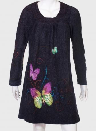 Загадочное платье с нежным принтом